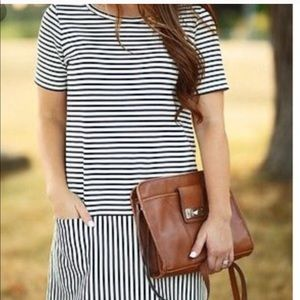 Madewell Striped Dress with two front pockets
